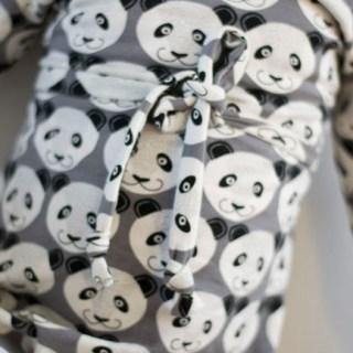 Warm Winter Dress - Panda Dress - Cowl Neck Jumper Dress Pattern by Heidi&Finn - Panda Fabric by By Poppy - Sewn by Pienkel