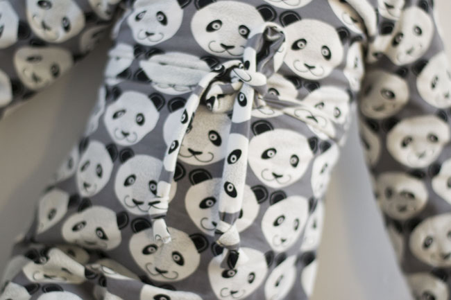 Warm Winter Wear – Panda Print Cowl Dress