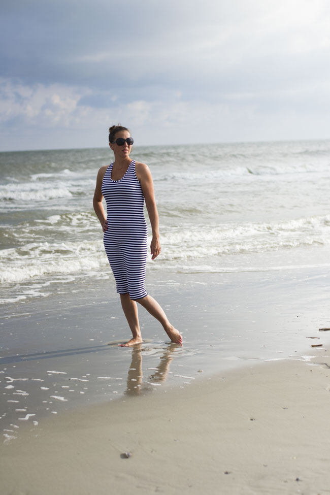 Fjara Dress Striped - pattern and sewn by Pienkel