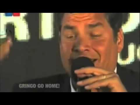 Rafael Correa, Presidente del Ecuador, expone denuncias sobre la CIA ( USA) y la PDI (Chile)  en contra de su país y su Gobierno