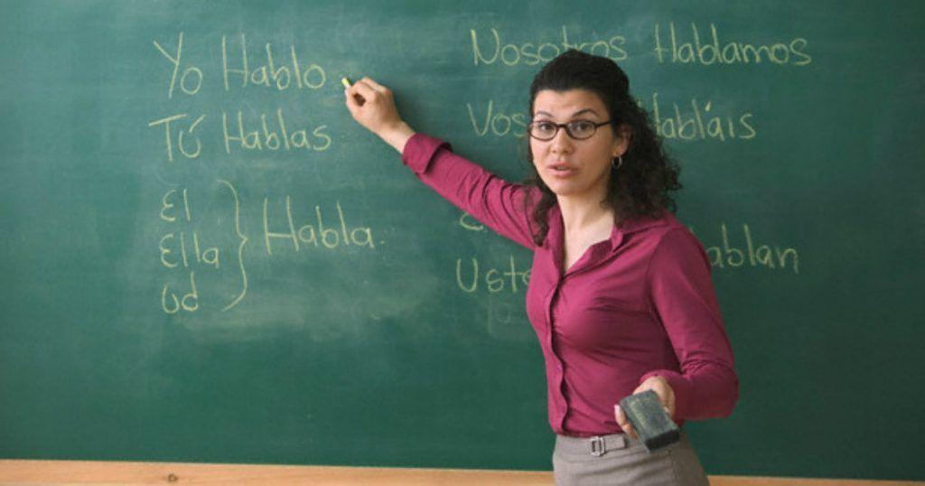 La profesora de castellano