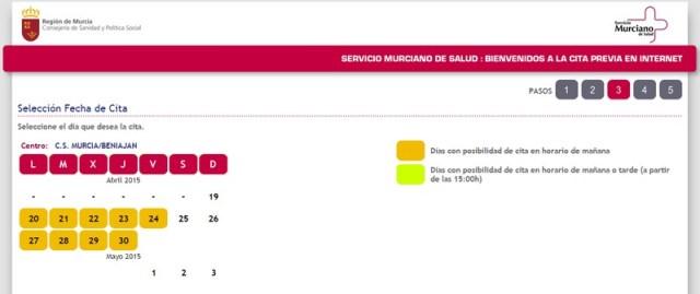 Cómo pedir cita a través del sistema de gestión de citas online en Murcia b