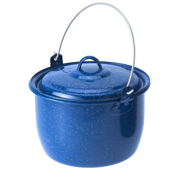 Emaille Topf 2,8 Liter blau
