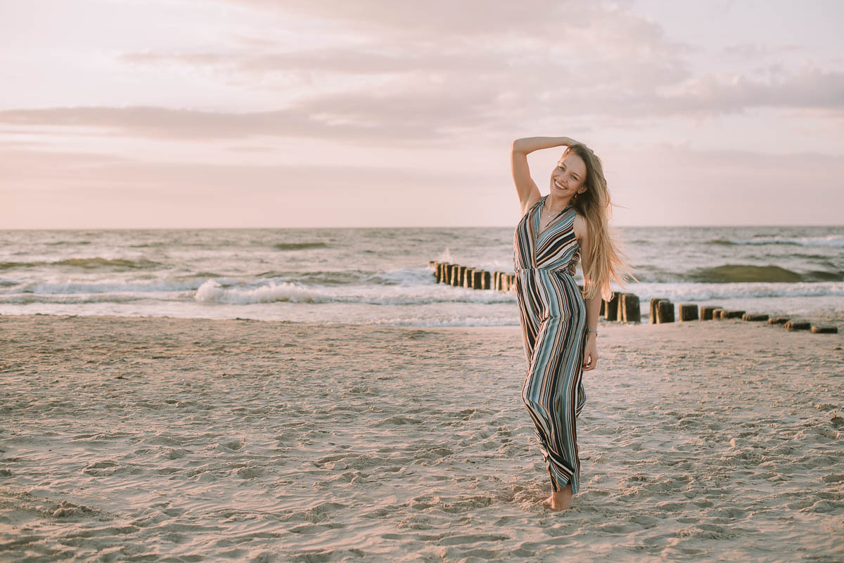 Sesja beauty na plaży