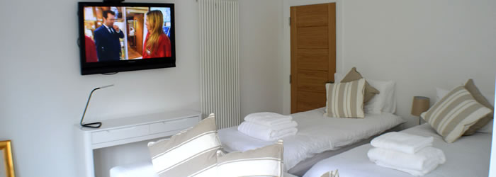 Twin Room with Flat Screen TV