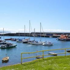 View of Portrush Harbour from Pier 39