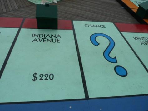 walkable monopoly board, atlantic city nj, bally's atlantic city, giant-sized monopoly