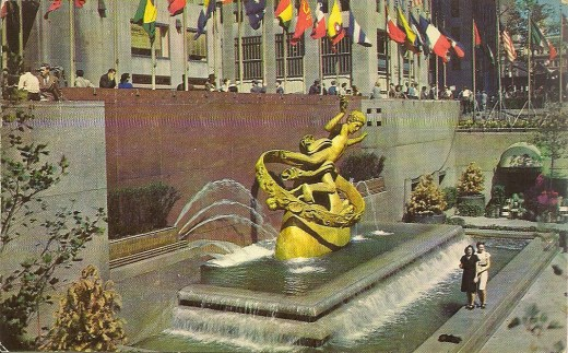 Postcard - Rockefeller Center - 1950s