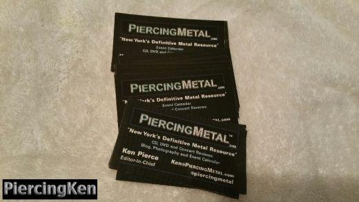 piercingmetal business cards, ken pierce business card,