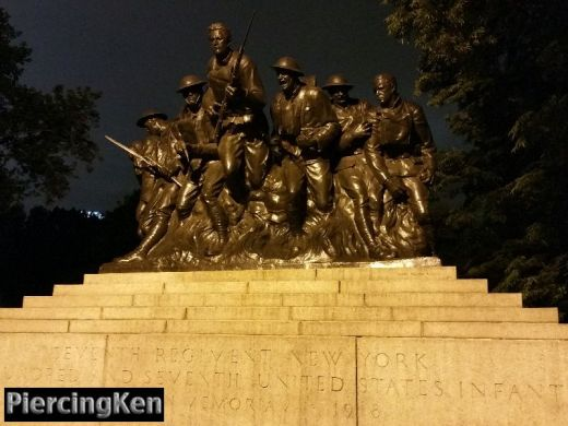 107th infantry regiment statues, nyc statues, 7th regiment new york statues,