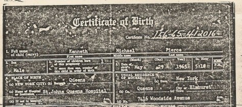 Photo - Birth Certificate Partial