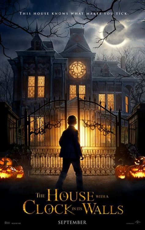 movie posters, universal pictures, the house with a clock in its walls