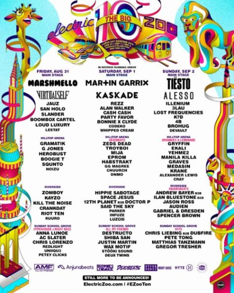 electric zoo the big 10, festival posters