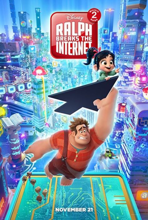 movie posters, ralph breaks the internet wreck it ralph 2, walt disney pictures
