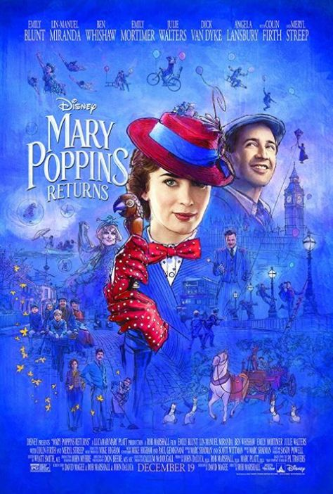 movie posters, walt disney pictures, mary poppins returns