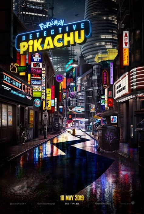 movie posters, promotional posters, warner brothers pictures, pokemon: detective pikachu