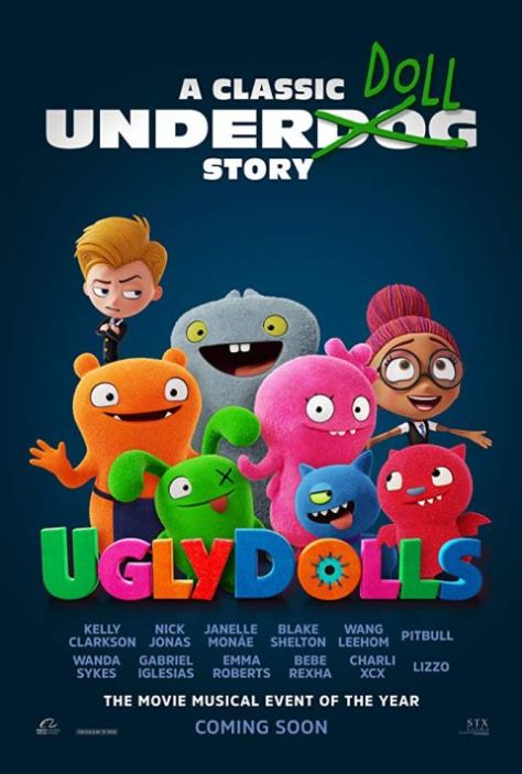 movie posters, promotional posters, stx entertainment, uglydolls