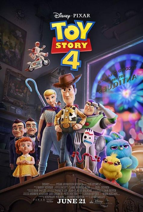 movie posters, promotional posters, disney pixar, toy story 4