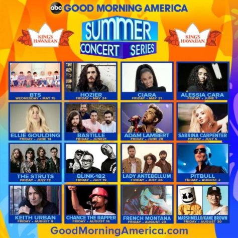 good morning america, summer concert series 2019