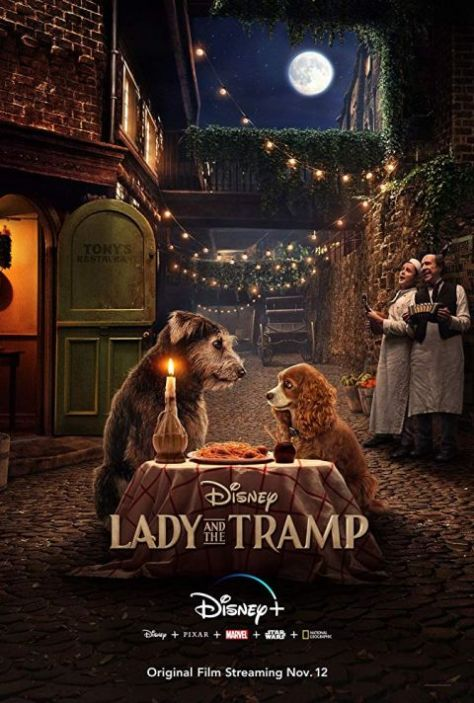 movie posters, promotional posters, walt disney pictures, lady and the tramp