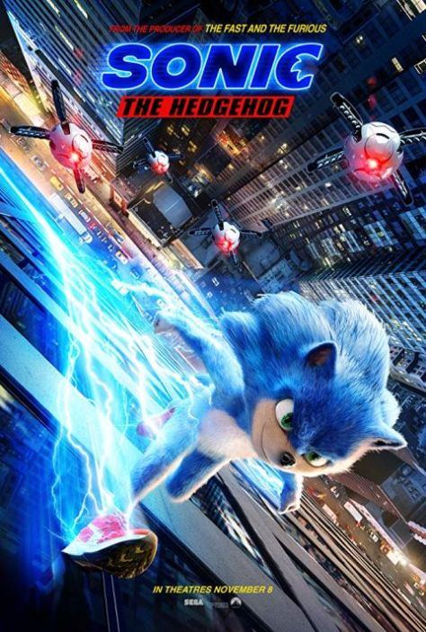 movie posters, promotional posters, paramount pictures, sonic the hedgehog
