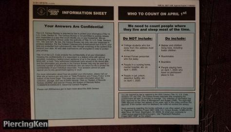 us census, us census 2020, us census paperwork