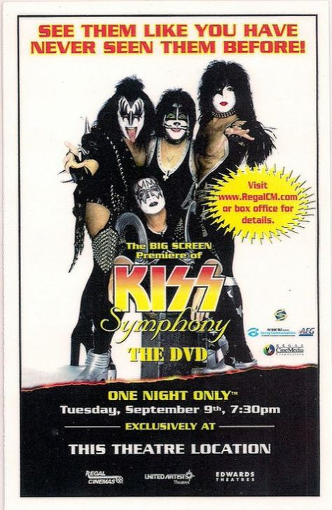 Poster - KISS - Symphony The DVD Screening - 2003