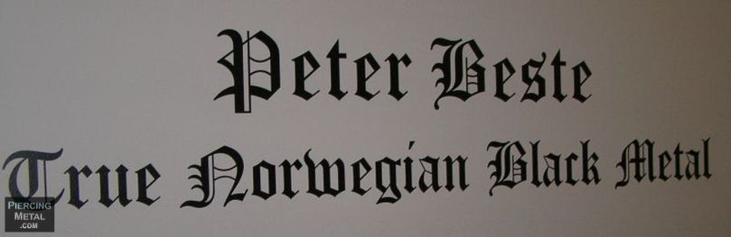 peter beste, black metal photographs, true norwegian black metal exhibit