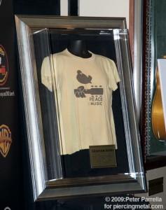 Graham Nash t-shirt purchased at Woodstock