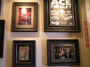 KISS Memorabilia Wall Display, Hard Rock Cafe Atlantic City, NJ