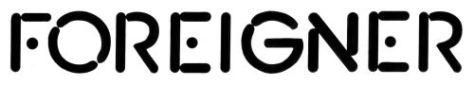 Logo - Foreigner