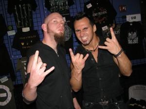Destrophy's Phil T. (bass) & Ari (vocals/guitar)