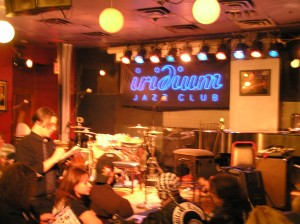 Stage Area of Iridium Jazz Club