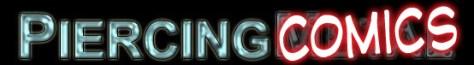 piercingcomics logo, piercingmetal comics