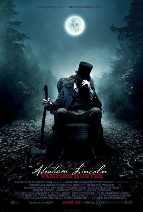 movie posters, promotional posters, 20th century fox, abraham lincoln vampire hunter