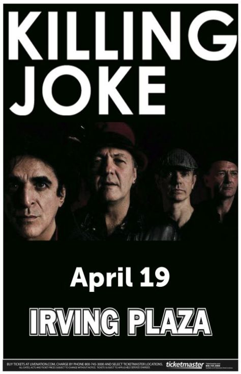 Poster - Killing Joke at Irving Plaza - 2013