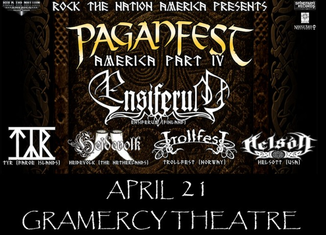 Win Tix To See Paganfest America In NYC On 4/21/2013PiercingMetal
