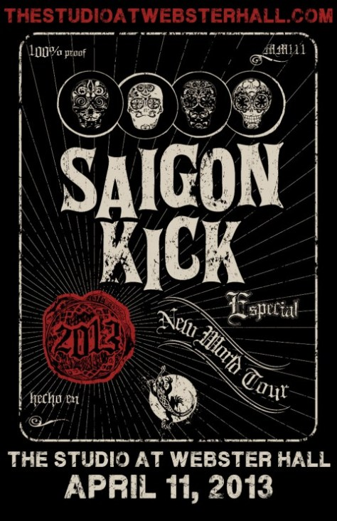 Poster - Saigon Kick at Studio - 2013