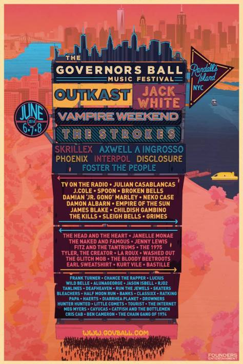 Poster - Governors Ball - 2014