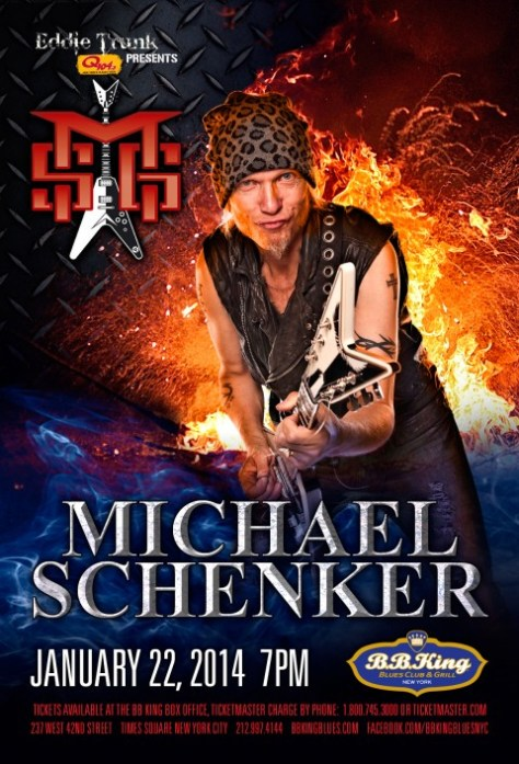 Poster - Michael Schenker at BB Kings - 2014