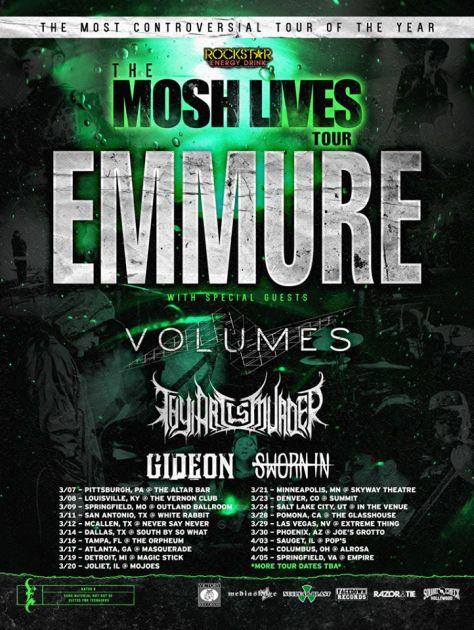 Tour - Emmure - 2014