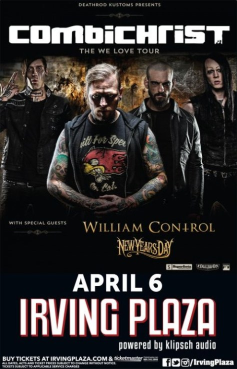 Poster - Combichrist at Irving Plaza - 2014