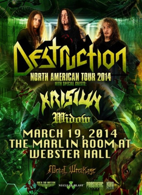 Poster - Destruction at Marlin Room - 2014