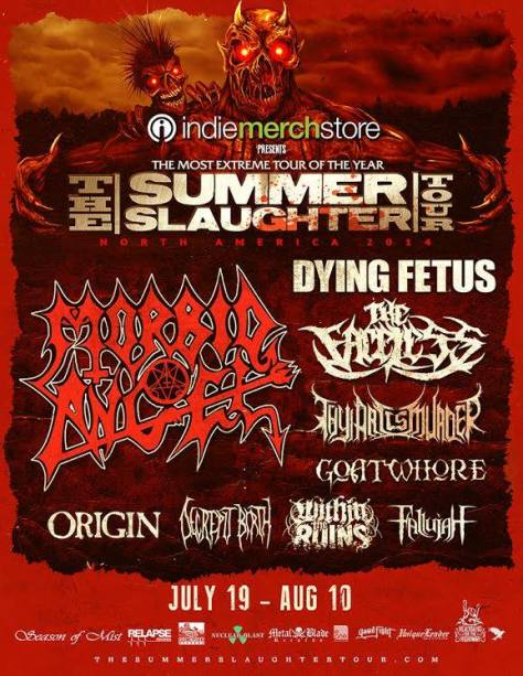 Tour - Summer Slaughter - 2014