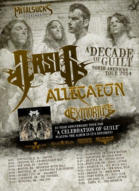 Tour - Arsis - Headline 2014