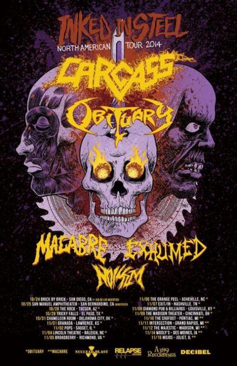 Tour - Carcass - 2014