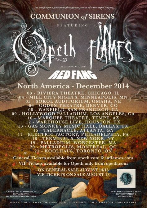 Tour - Opeth In Flames - Winter 2014