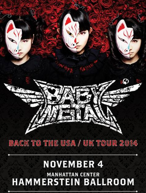 Tour - Baby Metal - 2014