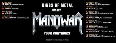 Tour - Manowar - US 2014