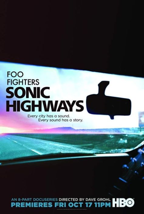 television posters, promotional posters, hbo original series, foo fighters, foo fighters sonic highways